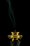 Fumée de l'encens deux Photos stock