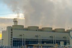 Fumée des cheminées d'une centrale en Utah photographie stock