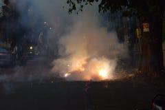 Fumée et incendie photo stock
