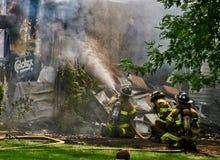 Fumée et incendie Image stock
