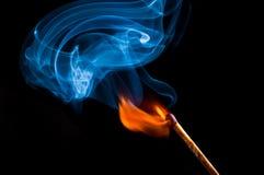 Fumée et le feu Photos stock