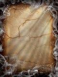 Fumée foncée d'incendie de Veille de la toussaint image libre de droits