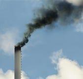 Fumée modifiée, problèmes d'écologie image stock
