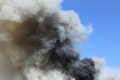 Fumée noire Photo stock