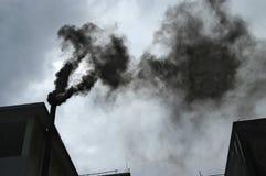 Fumée noire Photo libre de droits