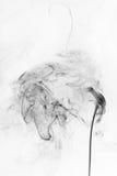 Fumée noire abstraite Photos stock