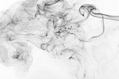 Fumée noire abstraite Images stock