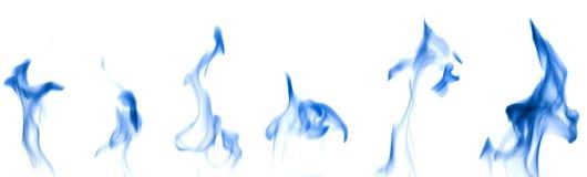 fumée réglée de bleu Images libres de droits