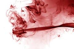 Fumée rouge Photographie stock libre de droits