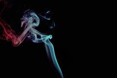 Fumée rouge et bleue images libres de droits