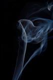 Fumée sur le fond noir Photo libre de droits