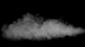 Fumée sur le fond noir Images libres de droits