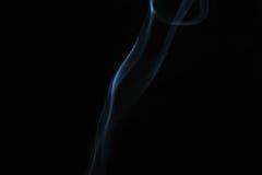 Fumée sur le fond noir Photo stock