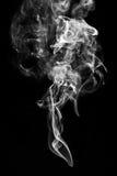 Fumée sur le noir Photos libres de droits