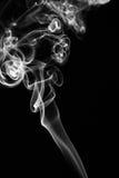 Fumée sur le noir Photo libre de droits