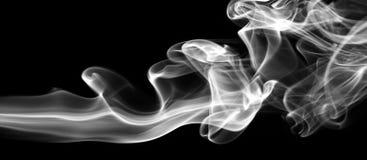 Fumée sur le noir Photo stock