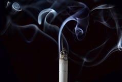 Fumée sur le noir Photographie stock