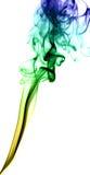 Fumée vert jaunâtre sur le blanc Photographie stock libre de droits