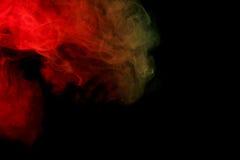 Fumée verte rouge abstraite Weipa Photo libre de droits