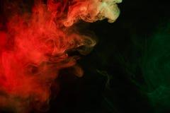 Fumée verte rouge abstraite Weipa Photographie stock libre de droits