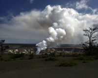Fumée volcanique lauea de KÄ « Photos stock