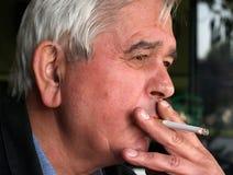 Fumador del pensador Imagen de archivo libre de regalías