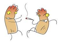 Fumador del personaje Fotos de archivo libres de regalías
