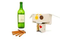 Fumador engraçado bêbedo Fotografia de Stock