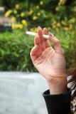 Fumador femenino Imágenes de archivo libres de regalías
