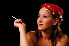 Fumador novo Fotos de Stock