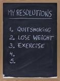 Fumage quitté, exercice, poids desserré Photo stock