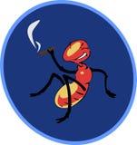 Fumando um charuto um inseto ilustração stock