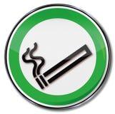 Fumando um cigarro ilustração royalty free