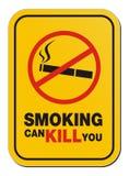 Fumar pode matá-lo sinal Foto de Stock