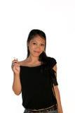 Fumar un cigarrillo Fotografía de archivo libre de regalías