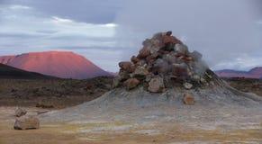 Fumarol在冰岛 库存照片