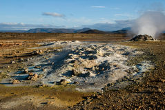 Fumarol i Namafjall, Island Royaltyfria Foton