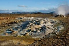 Fumarol in Namafjall, Iceland. Hot fumarol in the geothermal area Namafjall, Iceland Royalty Free Stock Photos