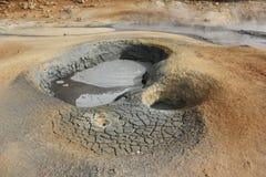 Fumarola del fango y tierra seca Imágenes de archivo libres de regalías