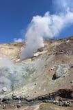 Fumarole bianche del vulcano Mutnovsky Kamchatka Fotografia Stock