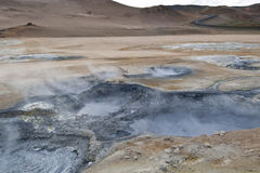 Fumarole field Royalty Free Stock Images