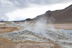 Fumarole field Royalty Free Stock Photo