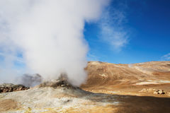 Fumarole Field in Namafjall Geothermal Area, Hverir Royalty Free Stock Image
