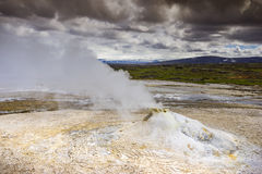 Fumarole in the geothermal area Hveravellir, central Iceland Royalty Free Stock Photo