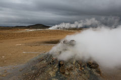 Fumarole, Iceland. Steaming fumarole near Myvatn, Iceland Stock Images