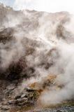 Fumarole inside active vulcano Solfatara Royalty Free Stock Photo