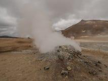 Fumarole in Namaskard Myvatn IJsland Royalty-vrije Stock Foto