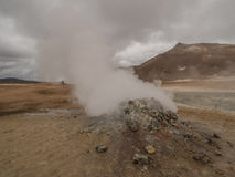 Fumarole przy Namaskard Myvatn Iceland Zdjęcie Royalty Free