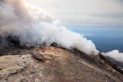 Fumarole on the top Avachinskiy volcano. Royalty Free Stock Photo