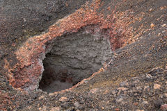 Fumarole. A fumarole in a volcanic area Stock Photo